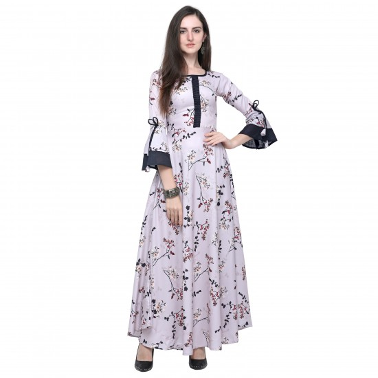 Casual Multi Colour Rayon Gown For Woman