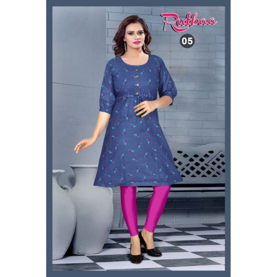 AMD Amazing And Beautiful Kurti Cotton And Print For Ladies