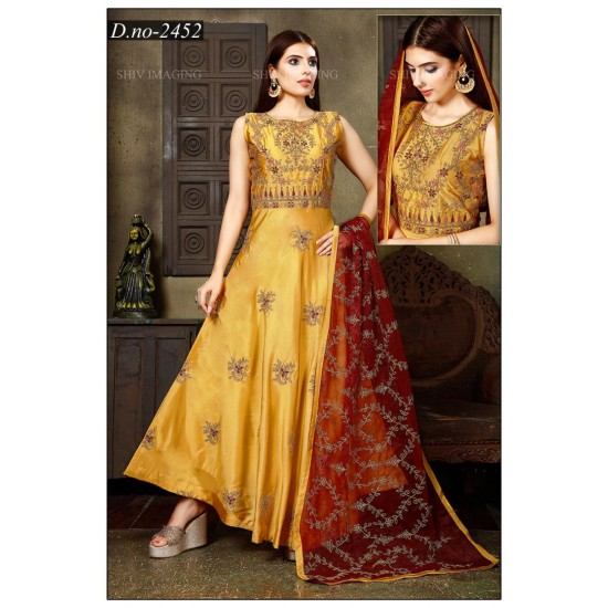 Beautiful And Traditional Silk Gown  For Women