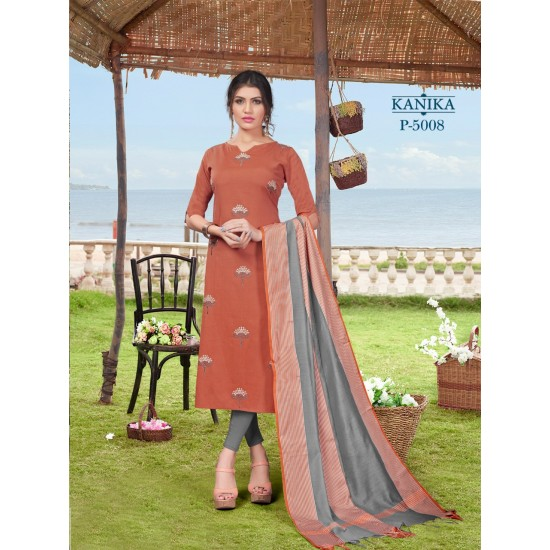 Catalog of Cotton Embroidery Kurti With Dupatta For Ladies