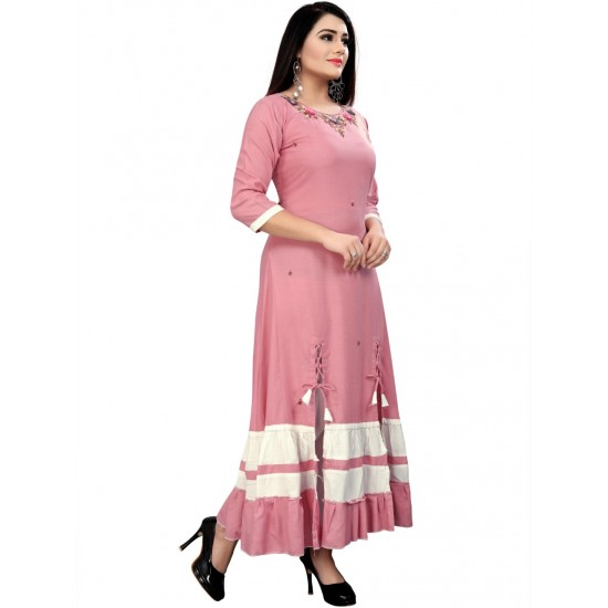 Party Wear And Beautiful Pink  Formal Gown  For Ladies
