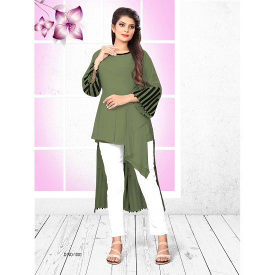 Catalog Multi Faux Georgette Top With Pant For Women