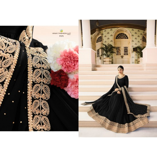 women gown Faux Georgette with Embroidry work rajmahel